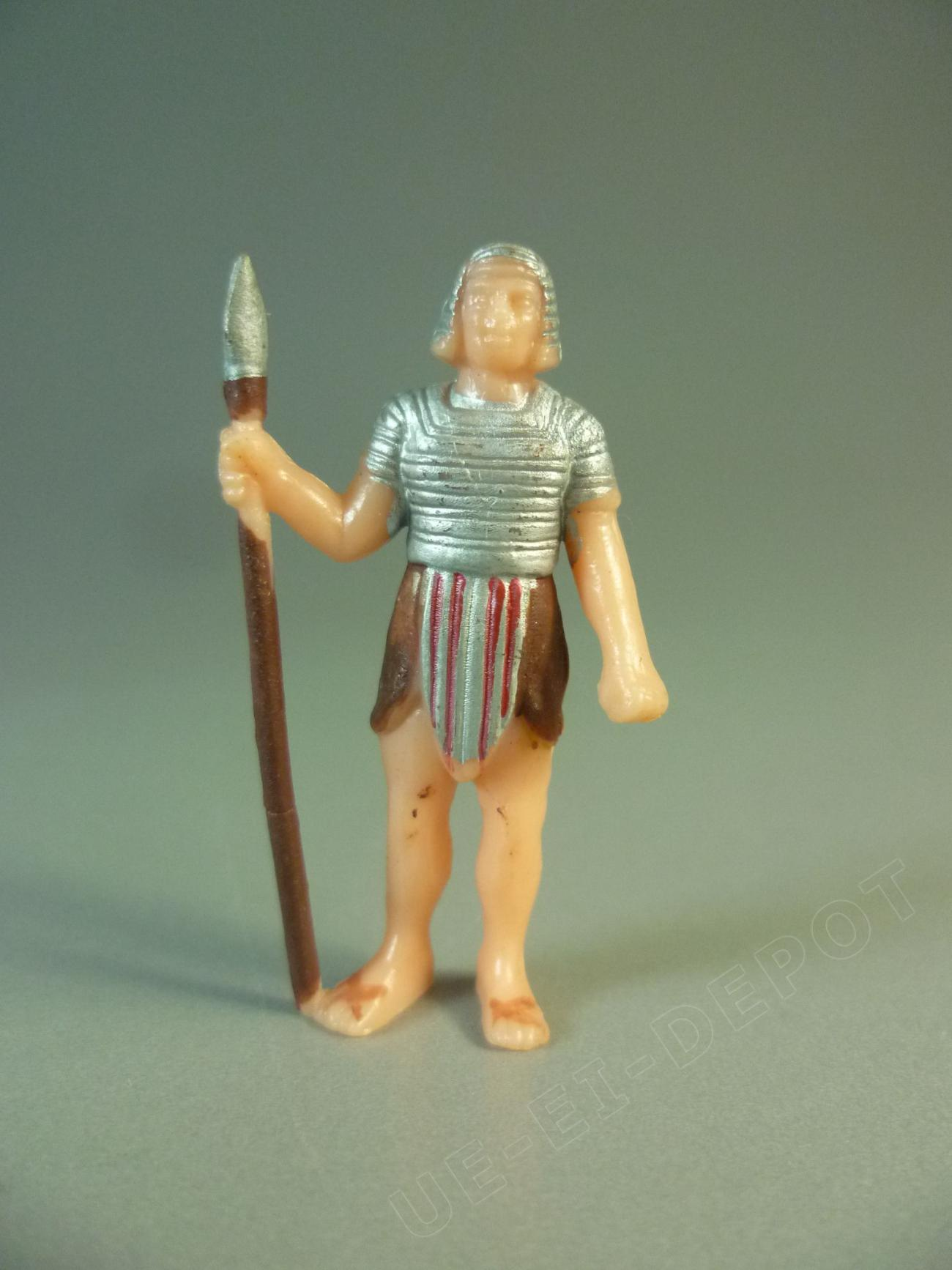 Ägypter mit Speer - silber